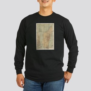 Vintage Map of Madagascar (189 Long Sleeve T-Shirt
